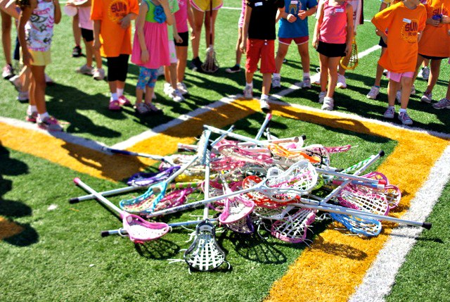 Pile of Girls Lacrosse Sticks
