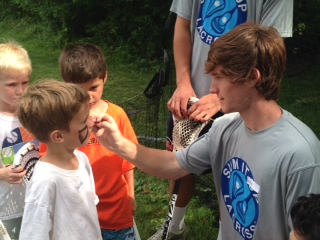 Boys and Boy Coach at Sum It Up Lacrosse