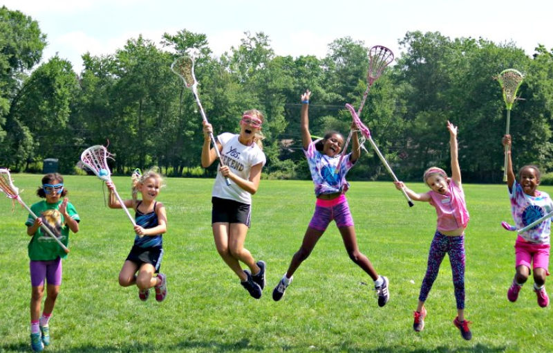Girls excited about returning lacrosse coaches to Swax Lax Lacrosse camps